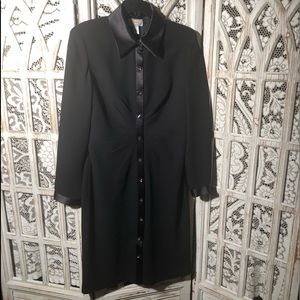 Talbots Buttoned Down Black Dress